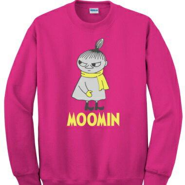 Moomin嚕嚕米授權-長袖-大學T【等待寒冬(桃紅)】