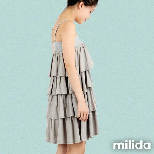 【Milida,全店七折免運】-早春商品-細肩款-百褶裙洋裝 2