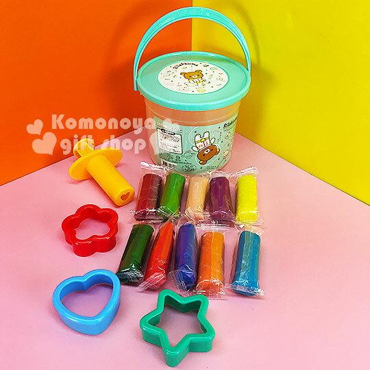 〔小禮堂〕懶懶熊 10色桶裝黏土玩具《綠蓋.太空裝.星球》內附造型壓模