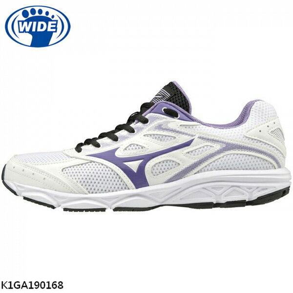 Mizuno Maximizer 21 [K1GA190168] 女鞋 運動 休閒 慢跑 走路 輕量 美津濃 白紫 0