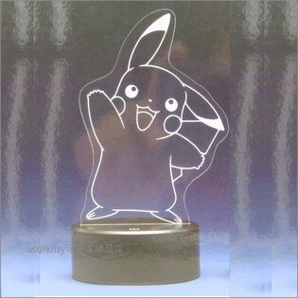 asdfkitty可愛家☆寶可夢神奇寶貝皮卡丘舉手造型LED燈-日本正版商品