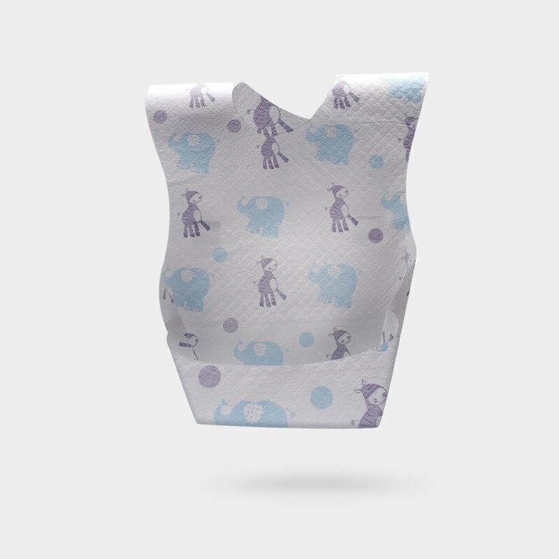 升級三層防水拋棄式圍兜  一包10入 口水巾 吃飯兜 一次性圍兜 餐巾紙 1