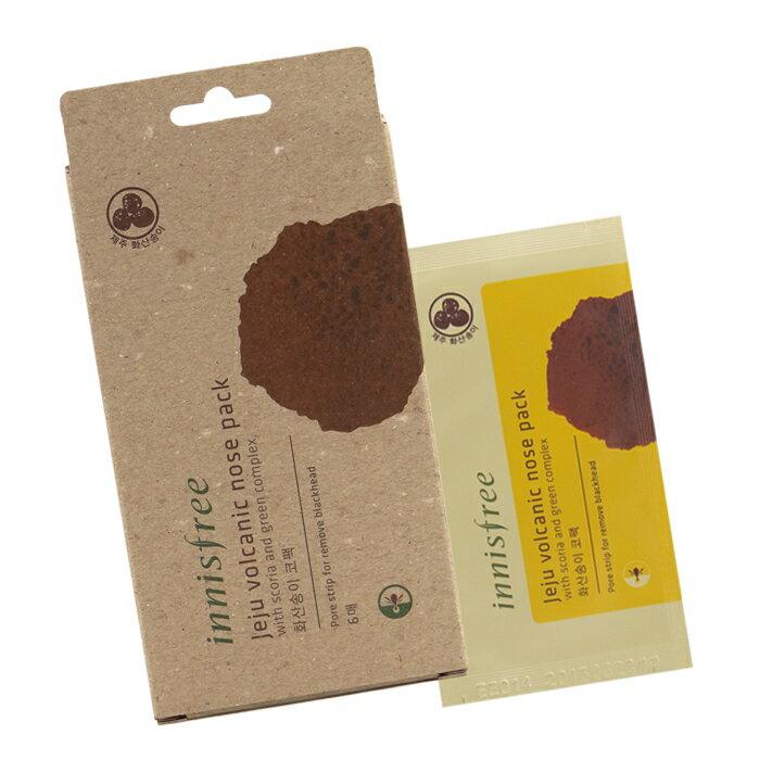 《香水樂園》韓國 innisfree 濟州 島火山岩泥 鼻頭清潔貼片 去黑頭鼻貼 6入盒裝組