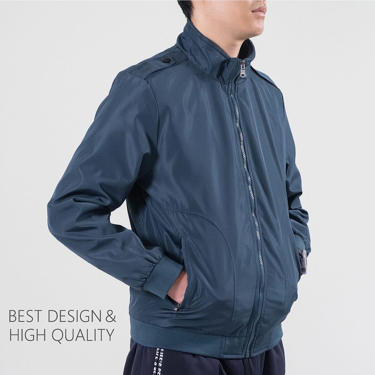 軍裝外套 修身夾克外套 立領素面外套 鈕扣肩章外套 格紋內裡薄外套 防風外套 潮流時尚休閒外套 風衣外套 黑色外套 Military Jacket Men's Jackets Windproof Jackets Button-up Epaulets (321-8025-01)咖啡色、(321-8025-02)藍綠色(321-8025-04)黑色  L XL 2L 3L 4L (胸圍109~124公分  43~49英吋) 男 [實體店面保障] sun-e 4