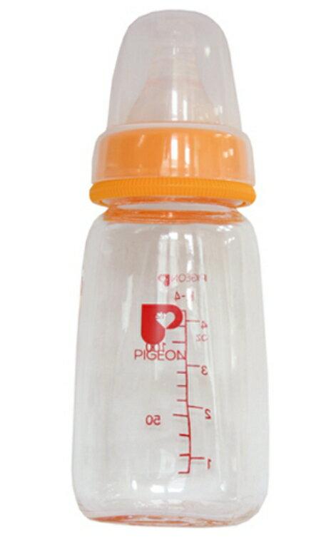 Pigeon貝親 一般口徑母乳實感玻璃奶瓶120ml 顏色隨機出貨