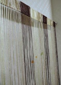 ◤彩虹森林◥《咖啡色》銀蔥線簾 混色線簾 雙色線簾 造型門簾 玄關簾 長簾 伸縮桿
