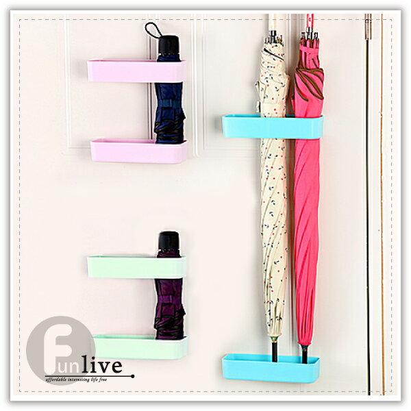 【aife life】黏貼式傘架-大/雨傘收納架/可調高度/黏貼式傘架/整理架/瀝水置物架/集水傘桶/萬用收納