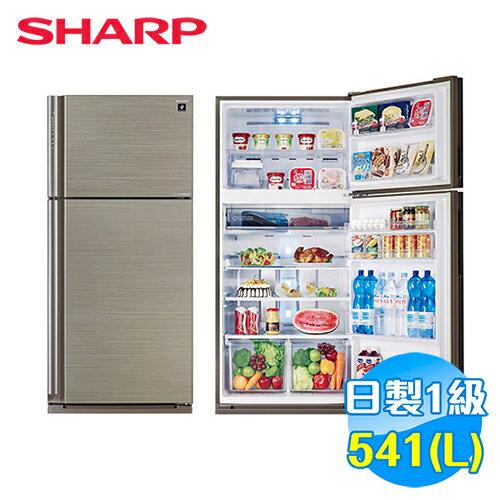 【滿3千,15%點數回饋(1%=1元)】SHARP541公升日本原裝自動除菌離子變頻雙門冰箱SJ-PD54V-SL【送標準安裝】