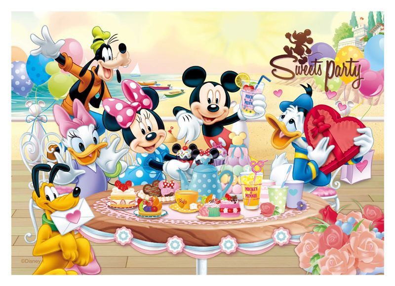 Mickey Mouse  Friends甜蜜派對拼圖108片