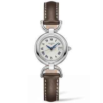LONGINES L61304712騎士系列羅馬石英腕錶/白面26.5mm