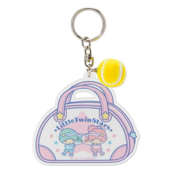 【真愛日本】4901610382998壓克力鑰匙圈-TS網球ACQ雙子星KIKILALA三麗鷗鑰匙圈吊飾