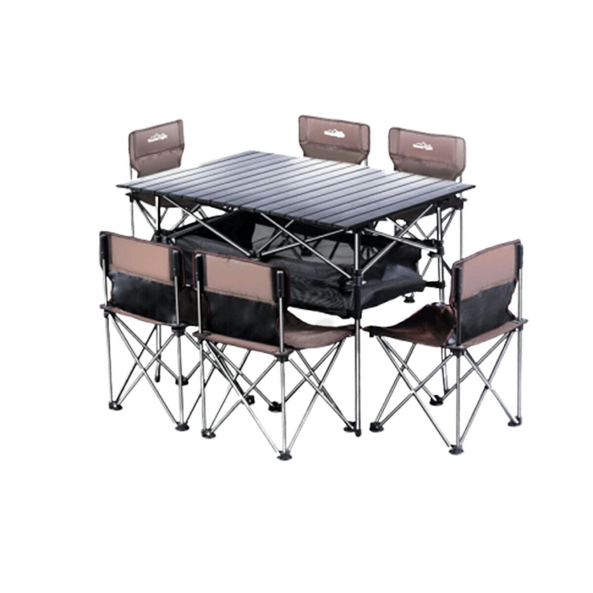 戶外露營折疊輕巧便攜蛋捲桌(附網袋)  摺疊桌 露營桌 攜帶式餐桌【 CSMART+】