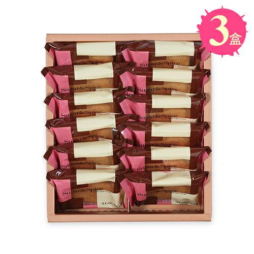 【糖村SUGAR & SPICE】義式咖啡薄捲餅12入禮盒x3盒