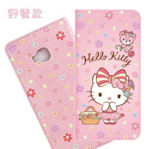 【Hello Kitty】ASUS Zenfone 4 Selfie Pro (ZD552KL) 5.5吋 戀愛系列彩繪可站立皮套(野餐款)