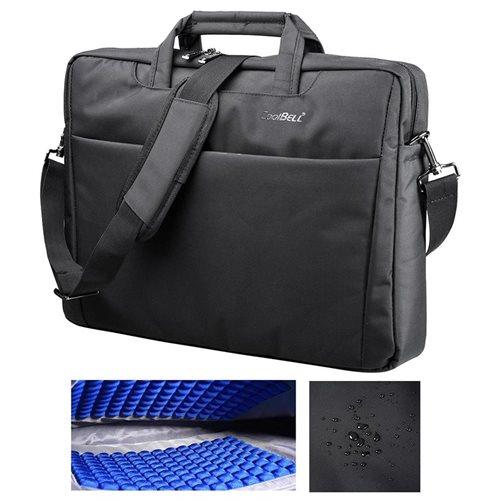 "CoolBELL 17.3"" Laptop Notebook Handbag Messenger Sleeve Case Bag Briefcase Bubble Pad 0"