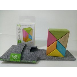 【淘氣寶寶】美國 TEGU 磁性積木6件組-調色盤
