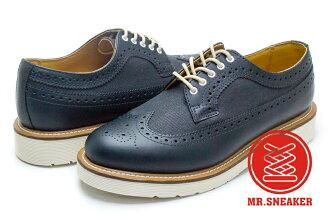☆Mr.Sneaker☆ Dr.Martens Alfred 牛津鞋 雕花鞋 深藍 白底 男款