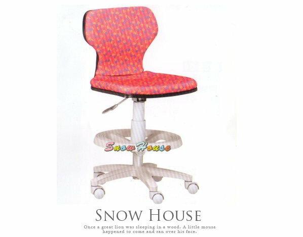 ╭☆雪之屋居家生活館☆╯A258-06 ST-02C多功能學童椅/兒童電腦椅/氣壓升降/PU壓力輪(粉紅色)