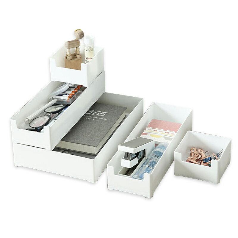 萬用盒 收納盒 置物盒 桌上收納 日式無印 方形/長形收納盒 文具用品 化妝品收納 桌面整理【H0412】