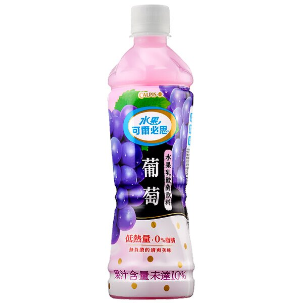 可爾必思 水果乳酸菌飲料-葡萄 500ml (4入)/組【康鄰超市】