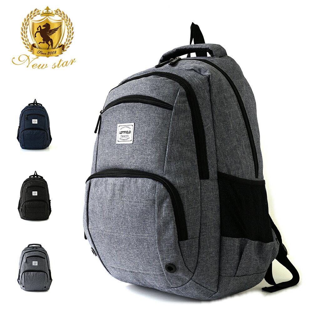 運動輕時尚防水雙層前口袋後背包包 NEW STAR BK237 1