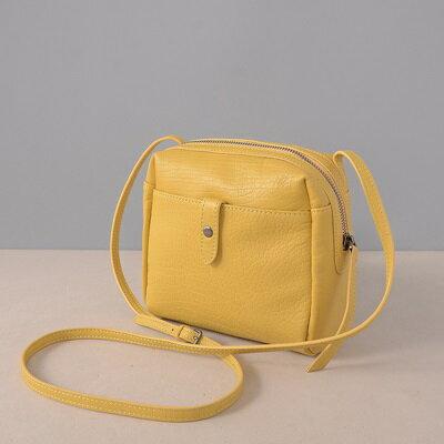 肩背包真皮側背包-純色簡約復古牛皮女包包2色73ut36【獨家進口】【米蘭精品】 0