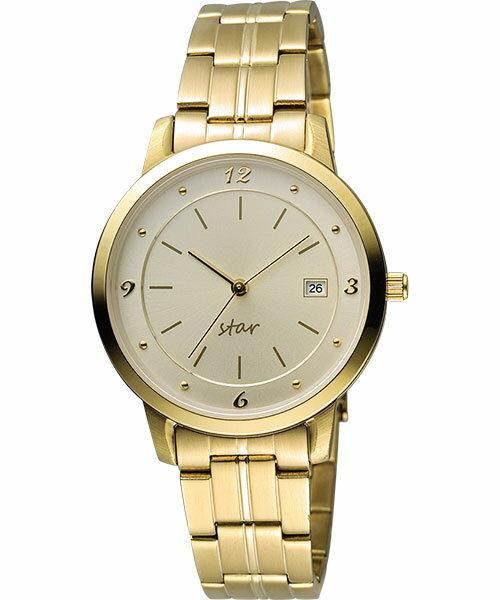 STAR時代錶 9T1407-131YG-YG典雅藝術金時尚腕錶/白面36mm