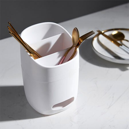 簡約瀝水筷子收納架 瀝水架 收納 廚房 筷子 湯匙 餐具 餐具筒 收納筒 置物架 筷籠 珪藻土 硅藻土【N600739】
