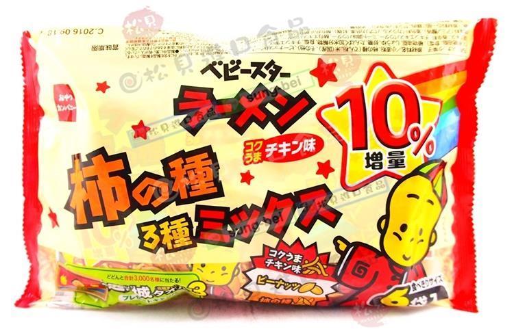 《松貝》優雅食模範生柿種花生麵6袋162g【4902775050562】