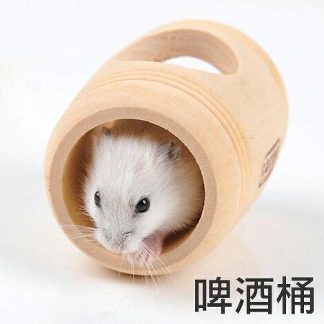 【小樂寵】木造啤酒桶造型屋/滾筒