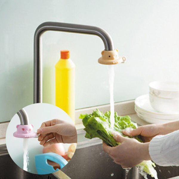 PS Mall 卡通廚房水龍頭節水器防濺噴頭【J082】 - 限時優惠好康折扣