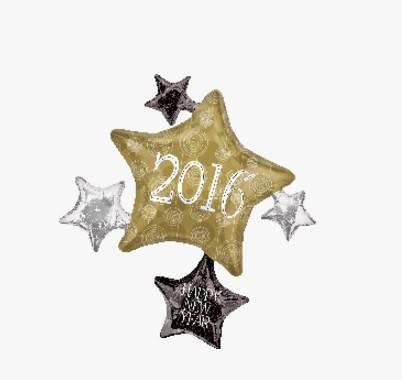 公司聚會佈置裝飾氣球 新年酒杯