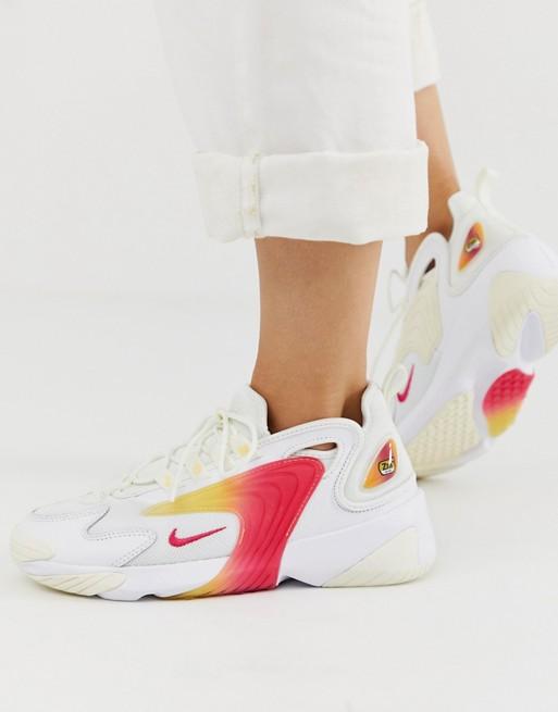 KUMO SHOES-現貨 Nike 女鞋2019 ZOOM 2K老爹鞋彩虹復古休閑鞋 AO0354-102