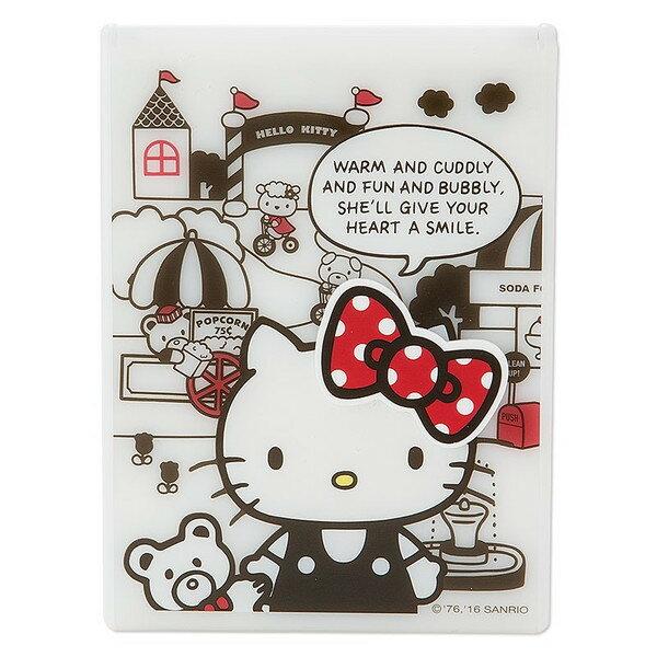 【真愛日本】16062300011摺疊收納鏡-KT樂園立體節 KITTY三麗鷗 凱蒂貓 隨身鏡 美妝 鏡子