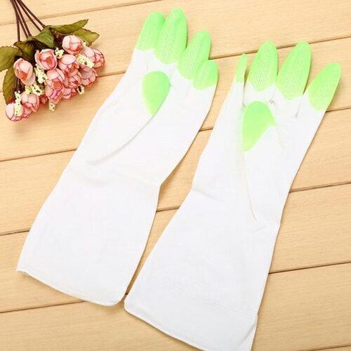 PS Mall 舒婷 家務清潔橡膠手套 加厚家用乳膠防水洗碗手套【J1965】 2