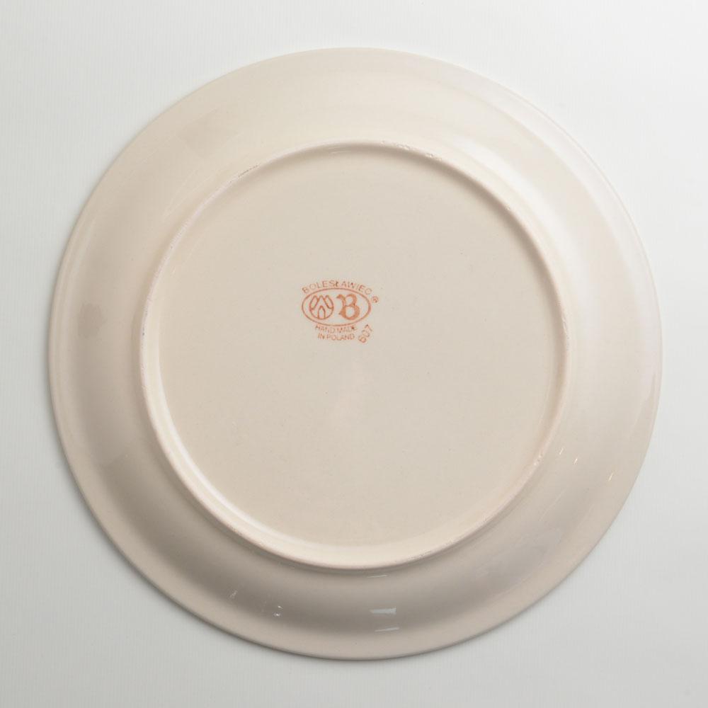 波蘭陶 藍印紅花系列 圓形餐盤 陶瓷盤 菜盤 點心盤 圓盤 沙拉盤 27cm 波蘭手工製 3