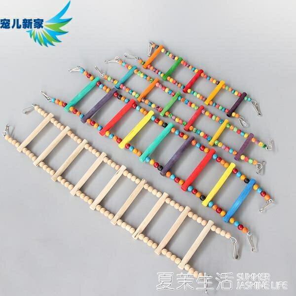 夯貨折扣! 鳥籠 鳥玩具 鸚鵡玩具用品 天然玩具 鳥籠 云梯 彩色小梯子 攀爬梯