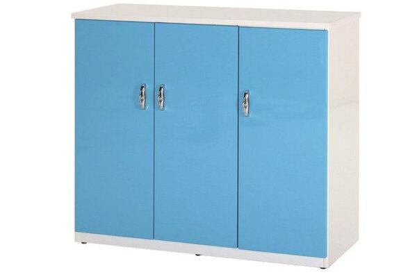 【石川家居】857-05(藍白色)鞋櫃(CT-315)#訂製預購款式#環保塑鋼P無毒防霉易清潔