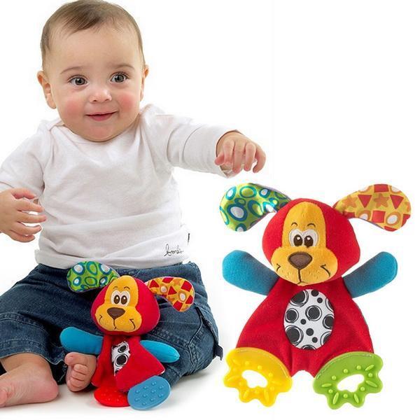 Infant Baby Plush Stuffed Toys Cute Cartoon Playmate Calm Doll Teether Developmental Kids Toys 3