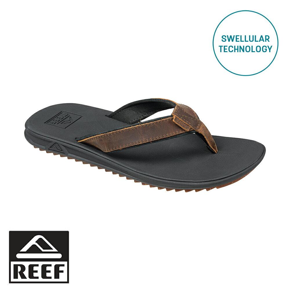 【79 折專區 ↘】REEF 經典Swellular科技 真皮織帶 防滑耐磨舒適好穿 男款夾腳拖 人字拖鞋  . 棕 RF0A2T2GBRO - 限時優惠好康折扣