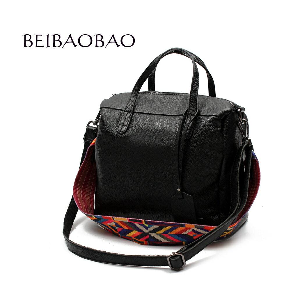 【BEIBAOBAO】歐風編織背帶牛皮三用包(手提+側肩揹+斜背 三用包) 0