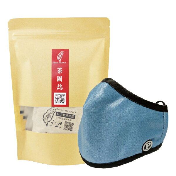 PYX 品業興 P輕薄型口罩 -晴空藍+茶圖誌茶包組