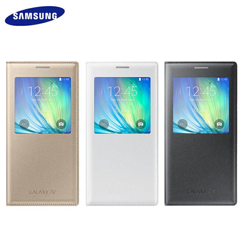 Samsung Galaxy A7 SM-A700 原廠S-view透視感應皮套/智能感應晶片保護套/電池蓋/休眠背蓋/東訊/神腦公司貨