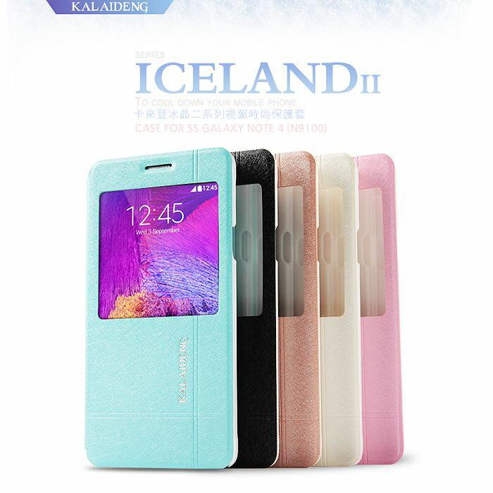 KALAIDENG 卡來登 SAMSUNG GALAXY Note 4 N910U 冰晶二系列 側翻皮套/側開皮套/背蓋式皮套/手機套/保護套/保護殼