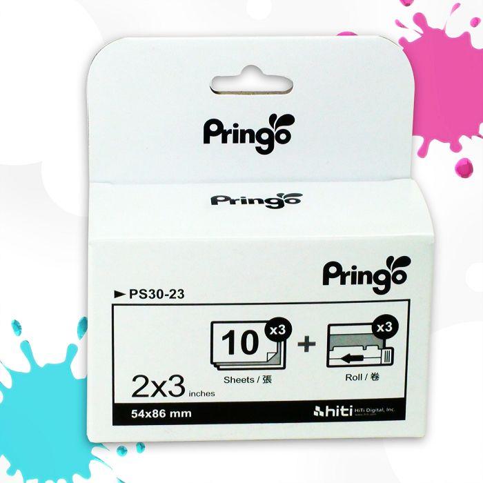 Pringo P231 行動相片印表機相印紙+色帶/超值專用組合/照相紙/相機紙/色帶/照相列印紙/盒裝/神腦公司貨