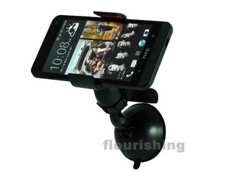 萬用車架/通用車架/導航支架/夾式手機架/影片架 油壓超強固定吸盤HTC ONE X/S S720E G22 A310E G17 X310E