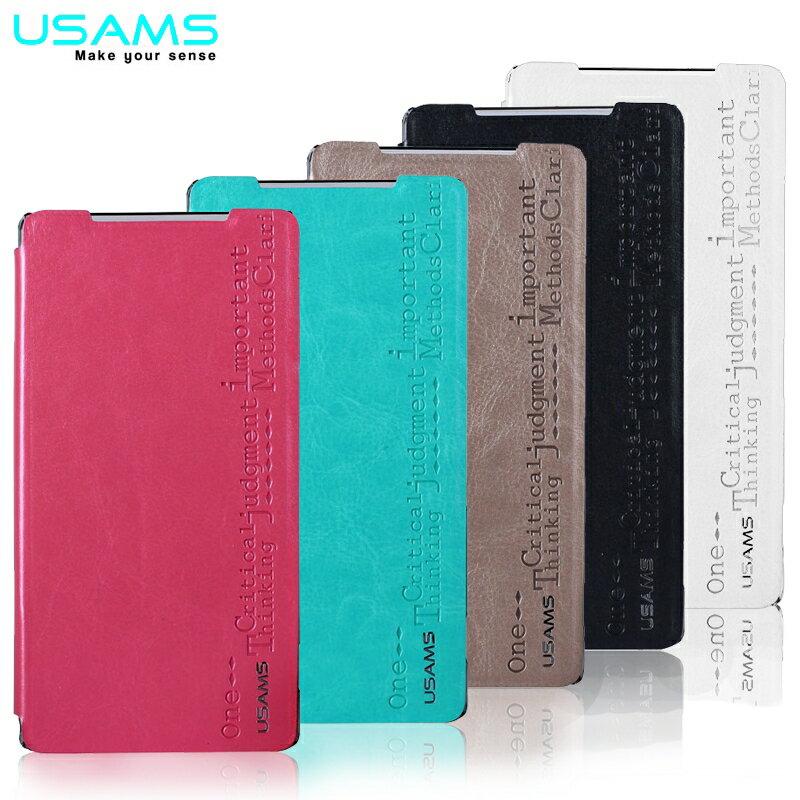 USAMS Sony Xperia Z2 D6503 米瑞系列 側掀皮套/保護套/皮套/保護殼/立架式皮套