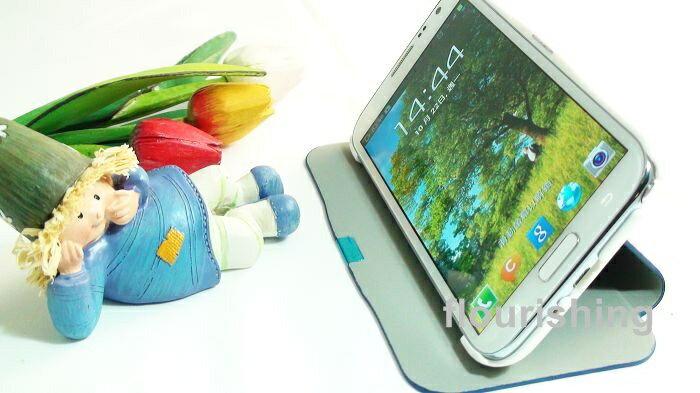 SAMSUNG GALAXY Note 2 N7100專用 馬賽克磁扣側掀保護套/側開皮套/翻蓋保護皮套/支架式保護殼/翻頁式皮套/磁扣式皮套