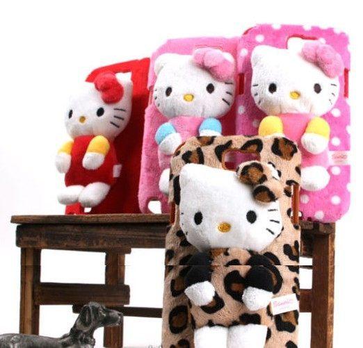 ㊣三麗鷗授權 SANRIO Hello Kitty 凱蒂貓 SAMSUNG GALAXY Note 2 N7100 專用 立體布偶手機背蓋 軟殼 背蓋 絨質背蓋