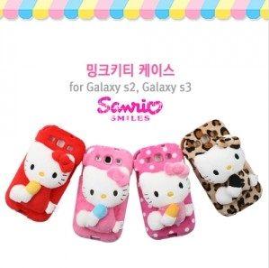㊣三麗鷗授權 SANRIO Hello Kitty 凱蒂貓 SAMSUNG GALAXY S2 I9100 專用 立體布偶手機背蓋 軟殼 背蓋 絨質背蓋